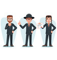 modern orthodox smart casual young israel vector image vector image