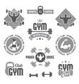 Monochrome gym labels vector image