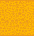 orange background with halloween pattern vector image