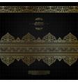 pattern arabesque islamic element elegant black