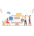 people use saas business cloud technology trend vector image vector image