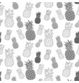 pineapple seamless pattern hand drawn textile vector image vector image