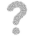 question shape of nem currency icons vector image vector image