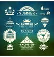 Retro summer design elements vector image