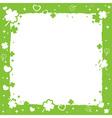 Saint Patricks decorative frame vector image vector image