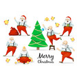 santa claus set of poses and emotions vector image