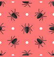 seamless pattern with spiders and circles vector image vector image