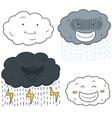 set of cloud cartoon vector image