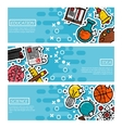 Set of Horizontal Banners about education vector image vector image