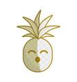 silhouette kawaii cute funny pineapple vegetable vector image vector image