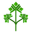 Sprig parsley icon flat isolated