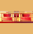 subway train interior seamless vector image vector image