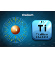 Symbol and electron diagram Thallium vector image vector image