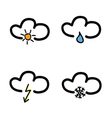 symbol for weather forecast vector image vector image