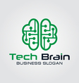 Technology Brain Logo vector image