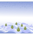 The background landscape with Christmas trees and vector image vector image