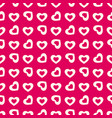 valentines day background seamless hearts pattern vector image vector image