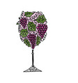 wineglass sketch for your design vector image vector image