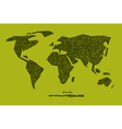World Map on Green Background vector image vector image