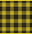 yellow and black lumberjack tartan plaid seamless vector image vector image