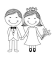 wedding design vector image