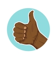 hand of african american giving thumbs-up vector image