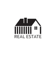 House for real estate business design vector image