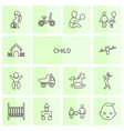 14 child icons vector image vector image