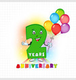 2 anniversary funny digits vector image vector image