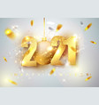 2021 happy new year holiday vector image vector image