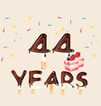 44 years happy birthday card vector image vector image