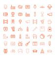 49 retro icons vector image vector image