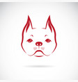 a dog face on a white background bulldog pet vector image vector image