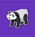 a panda sticker character vector image vector image