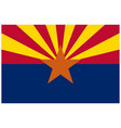 accurate correct arizona state flag vector image vector image