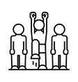 active person line icon active person concept vector image
