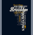 athletic new york city brooklyn typography vector image vector image