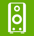 black sound speaker icon green vector image vector image