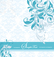 Blue floral invitation card vector | Price: 1 Credit (USD $1)