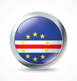 Cape Verde flag button vector image vector image