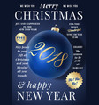 christmas greeting card poster banner or party vector image vector image