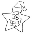 Christmas star cartoon vector image vector image