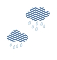 Clouds Sky Abstract Rain Nature Storm Cute vector image vector image
