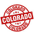 Colorado red round grunge stamp