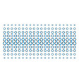 cooperation shape halftone effect vector image vector image