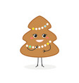 cute gingerbread christmas tree vector image