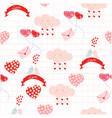 cute love cartoon card seamless pattern vector image
