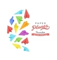 decorating design made of paper planes vector image vector image