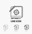 design app logo application design icon in thin vector image