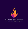 diamond flame colorful template design vector image vector image